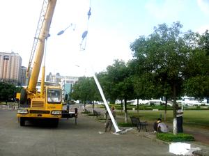 沁园绿地路灯安装工程